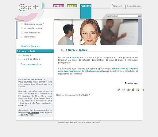 Site Web Cap RH